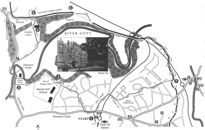Map of Walk No. 4 - Chadkirk