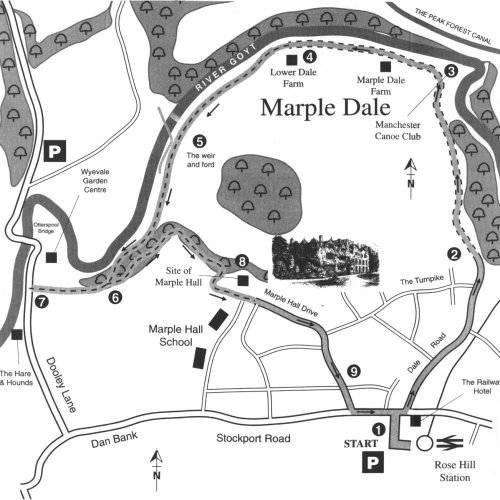 Map for Walk No. 1 - Marple Dale