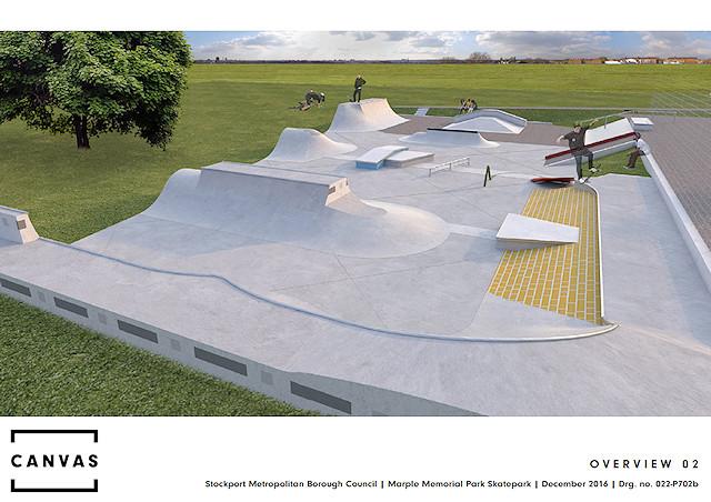 Marple Skatepark designs
