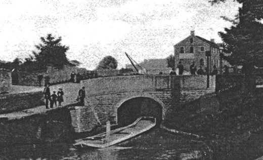 A rare view of Bridge 17 and Oldknow's Warehouse