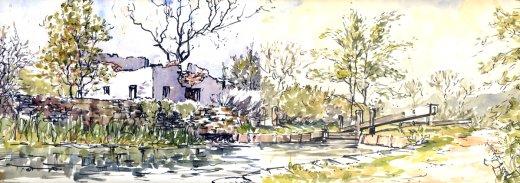 Painting by John Tuson.