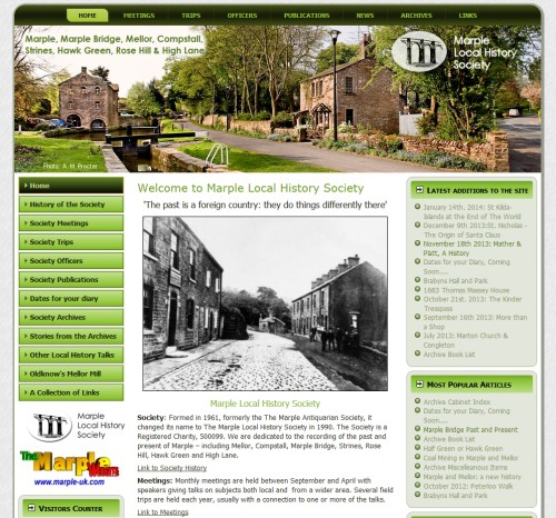 Marple Local History Society Web Site