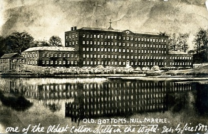 Rear view of Mellor Mill and the mill pond