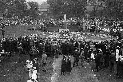 The dedication of Marple's War Memorial in July 1922