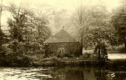 The Hermitage on the island of the ornamental pond