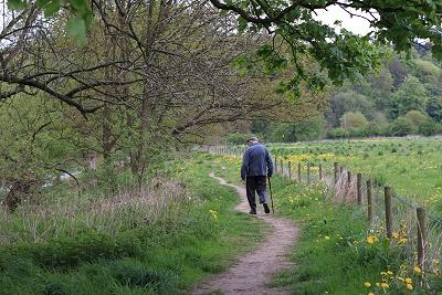 A gentleman strolls a long Marple Dale 2010