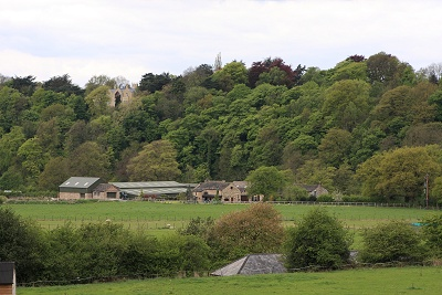Marple Dale with Oakwood Hall in the distance.