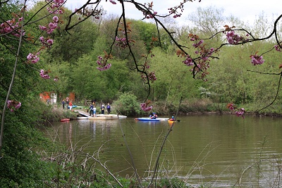 Today the mill pond is used for canoe training