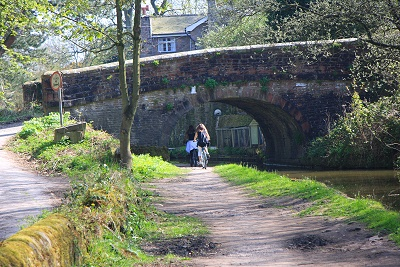Looking back to Plucks Bridge