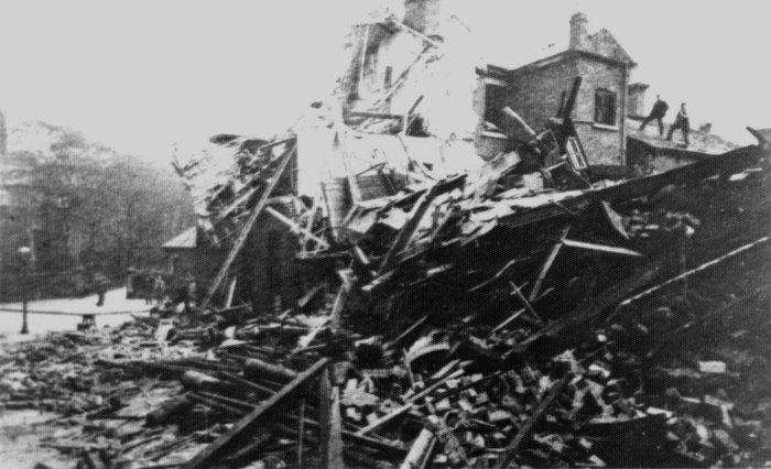 Devastation on Stockport Road in 1902