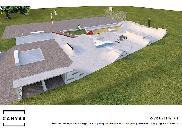 Marple Skatepark final design