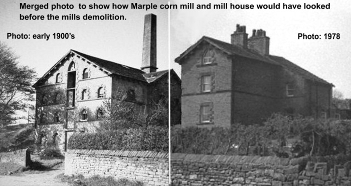 Merged photo of the Corn Mill and Bleak House
