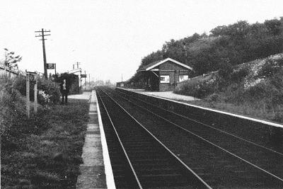 High Lane Station from the South in August 1968.