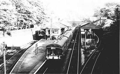 Marple in the early days of dieselisation in c.1961.