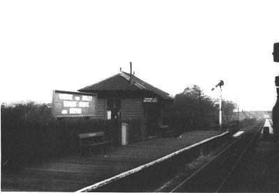 Middlewood Higher Down Platform, looking north from a train bound for Macclesfield Central, on 18th April 1954.