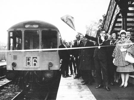 The Opening Ceremony for Marple's rebuilt station on Wednesday 2Bth October 1970.