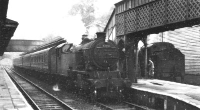 Steam age commuter rush hour operating at Marple on 20th September 1958.