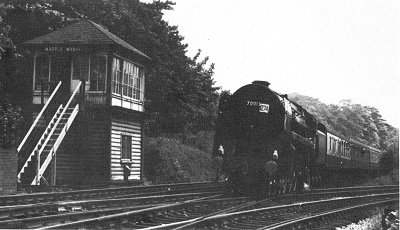 Built at Crewe 1951 - now preserved. Compare with photograph below taken in March 1966.