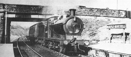 Ex G.C. Mixed Traffic J.11 No 64441 enters Rose Hill with a Macclesfield train just after nationalisation c. 1951.