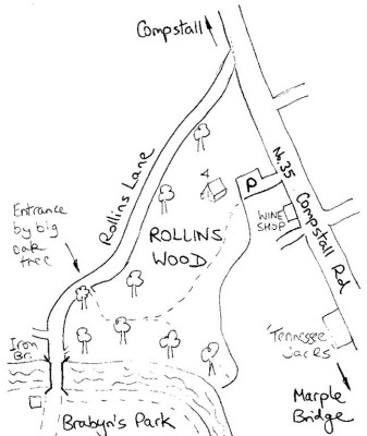 Map of Rolins Wood